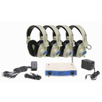 Wireless Listening Center with Headphone Rack, 72.500 MHz - 4 Person, M16188