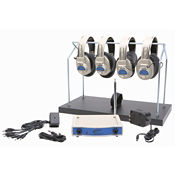 Wireless Listening Center with Headphone Rack, 72.500 MHz 4 Person, M16189