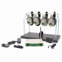 Wireless Listening Center with Headphone Rack, 72.900 MHz 4 Person, M16193