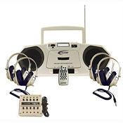 Music Maker Single Cassette, CD Listening Center 4 Person, M16205