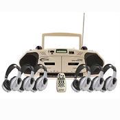 Music Maker Infrared Listening Center 6 Person, M16209