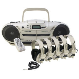 Performer Plus CD, Double Cassette Listening Center 5 Person, M16211