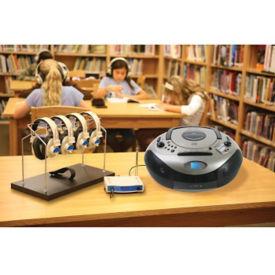 Spirit SD Listening Center with Wireless Headphones, Transmitter 4 Person, M16214