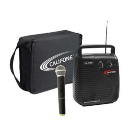 Portable Public Address System with Wireless Mic and Carry Case 210.250 MHz, M16227