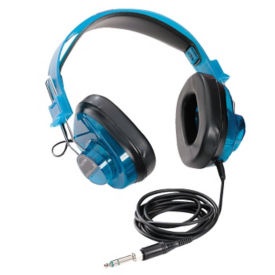 Deluxe Stereo Headphones with Blueberry Casing, M16289