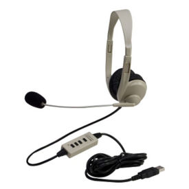 Multimedia Headphone with Mic and USB Connection, M16298
