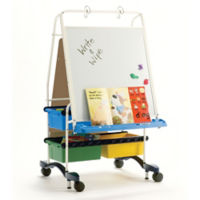 "White Board Center with Storage - 31.5""W x 56.5""H, B20123"