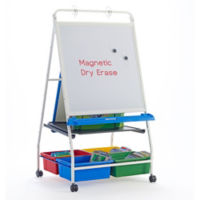"White Board Reading and Writing Center - 33.5""W x 56.5""H, B20125"