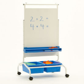 "Deluxe White Board Chart Stand - 28""W x 69.5""H, B20126"