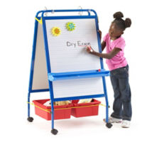 "Two-Sided Early Learning Station - 26.5""W x 48""H, B20128"
