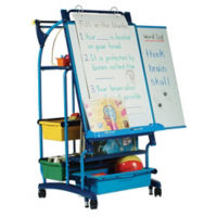 "Teaching Easel with Seven Tubs - 30""W x 64.5""H, B20129"