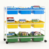 "Nine Tub Storage Cart - 36.5""H, B30614"