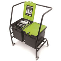 Two Tech Tub™ Six iPad Charging and Storage Tubs with Cart, E10266