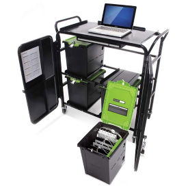 Four Tech Tub™ Six iPad Charging and Storage Tubs with Cart, E10267
