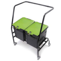 Two Tech Tub™ Ten iPad Charging and Storage Tubs with Cart, E10268