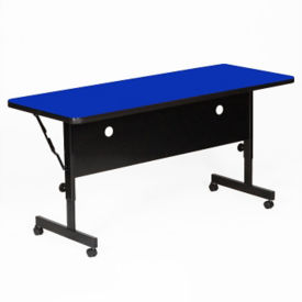 "Laminate Flip Top Table with Adjustable Height Legs 24"" x 72"", A11139"