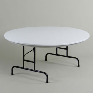 "Round Adjustable Height Folding Table - 60"", A11158"
