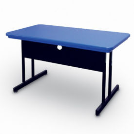 "48"" x 24"" Desk-Height Table with Plastic Top, E10148"