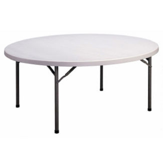 "71"" Round Lightweight Folding Table, T11235"