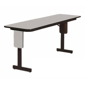 "Adjustable Height Panel Leg Table-  96"" x 18"", A11198"