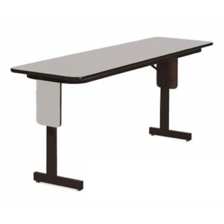 "Adjustable Height Panel Leg Table 96"" x 24"", A11201"