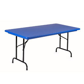 "Lightweight Plastic Folding Table - 30"" x 60"", T12028"