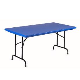 "Lightweight Plastic Folding Table - 30"" x 60"", T12028"