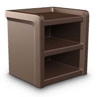 Flame Retardant Plastic Bedside Table, T11387