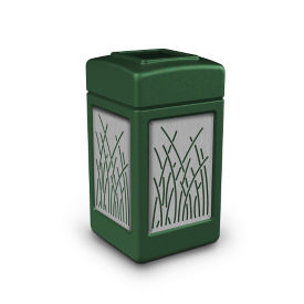 Waste Receptacle with Reed Design - 42 Gallon, R20311