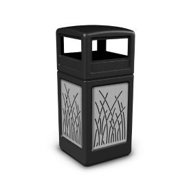 Dome Lid Waste Receptacle with Reed Design - 42 Gallon , R20315