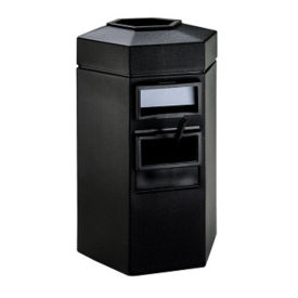 45 Gallon Trash Can with Windshield Wash Station, R20281