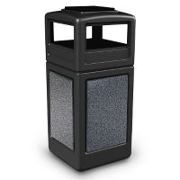 Waste Receptacle with Ashtray Lid - 42 Gallon, V21975