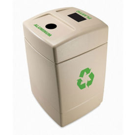 Dual Opening Recycling Container - 55 Gallon, V21980