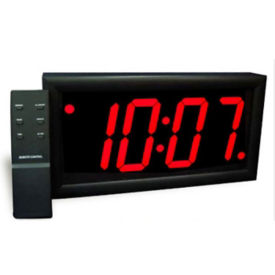"Jumbo LED Alarm Clock with 4"" Red Numerals, V21726"