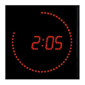 "Red Dot LED Clock 11"" x 11"", V21732"