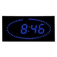 "Blue Dot LED Clock 16"" x 8"", V21733"