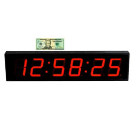 "LED Timer Clock with 4"" Numerals, V21736"