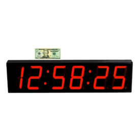 "LED Timer Clock with 5"" Numerals, V21738"