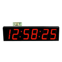 "Large LED Timer Clock with 7"" Numerals, V21739"