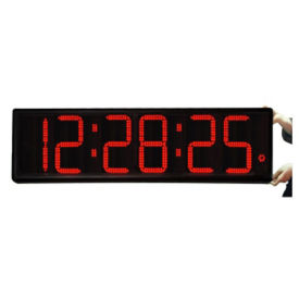 "Jumbo LED Timer Clock with 9"" Numerals, V21740"