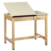 "30""H Dual Surface Drafting Table with Small Drawer, A11173"