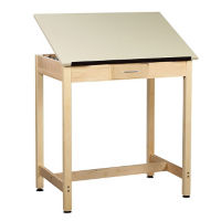 "36""H Drafting Table with Small Drawer, A11172"