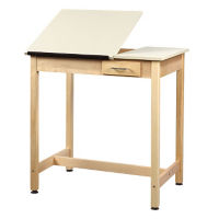 "36""H Dual Surface Drafting Table with Small Drawer, A11174"
