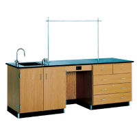 8' Desk with Sink, L70025