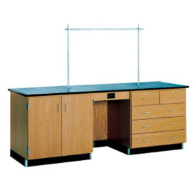 8' Desk without Sink, L70026