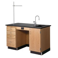 5' Instructor's Desk with Right Hand Sink, L70031