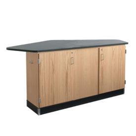 Four Student Workstation without Sink, L70041