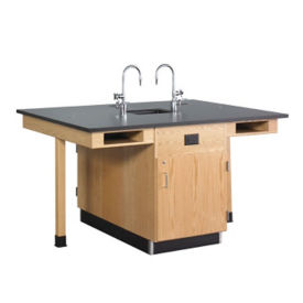 Four Person Lab Center with Sink, L70049