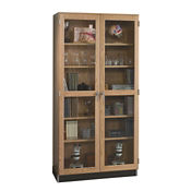 "Science Classroom Tall Glass Door Storage Cabinet - 36""W, L70058"