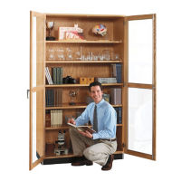 "Science Classroom Tall Glass Door Storage Cabinet - 48""W, L70059"